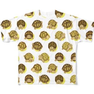ギリシャリクガメさん Full graphic T-shirts