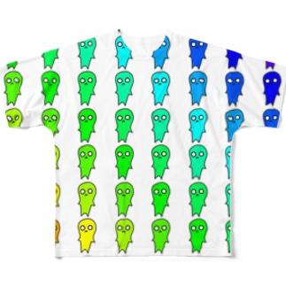 レインボーマヌケ Full graphic T-shirts