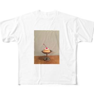 かためのプリン Full graphic T-shirts