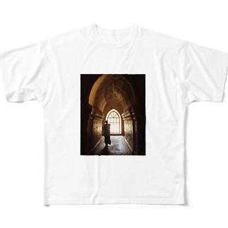 ミャンマーの僧侶 Full graphic T-shirts