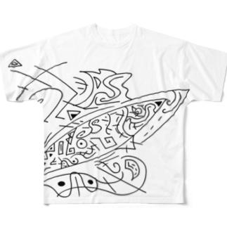 空の魚 Full graphic T-shirts