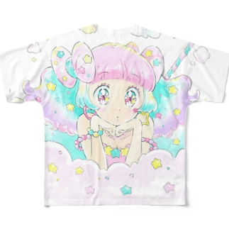 わたあめちゃん Full graphic T-shirts
