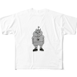 タベテナイヨ Full graphic T-shirts