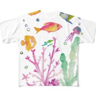 つれづれ魚 Full graphic T-shirts