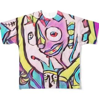 ステンドグラスチックな道化 Full graphic T-shirts