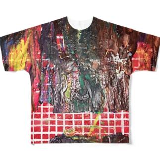 途中 Full graphic T-shirts