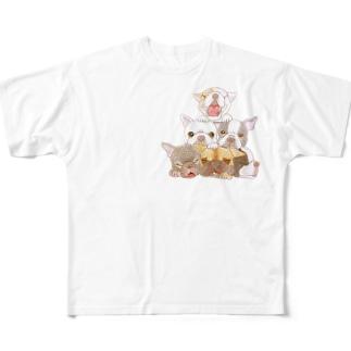 またまたフレブルてんこ盛り Full graphic T-shirts