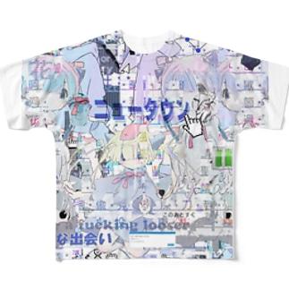 あんしん×リスカちゃん Full graphic T-shirts