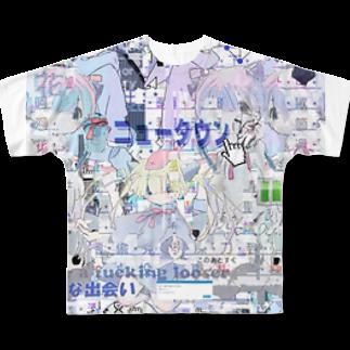 あんしん るるろるのあんしん×リスカちゃん Full graphic T-shirts