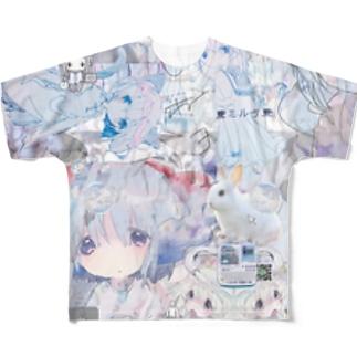 あんしん×リスカちゃん milk  Full graphic T-shirts