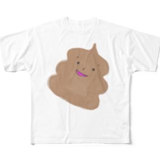 ゆるゆるりチョコソフト Full graphic T-shirts