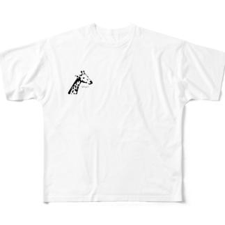 いかついキリンさん Full graphic T-shirts