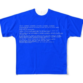 BSOD(Blue Screen of Death) Full graphic T-shirts