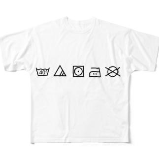 WASHING LABEL Full graphic T-shirts