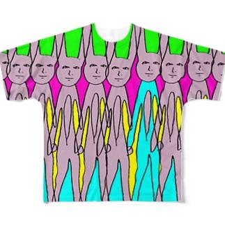 悟りうさぎの夢 Full graphic T-shirts