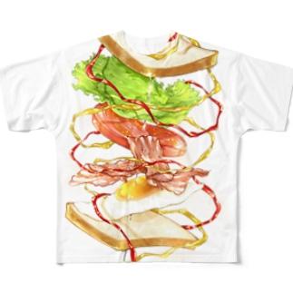 躍動するサンドイッチ Full graphic T-shirts