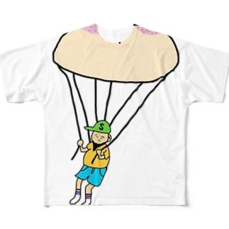 オツパイ型のパラでしゅーっち降下 Full graphic T-shirts