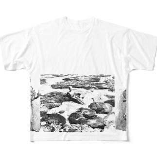 オーストラリアのサンゴ礁と女、と男 Full graphic T-shirts
