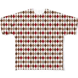 菱形 Full graphic T-shirts