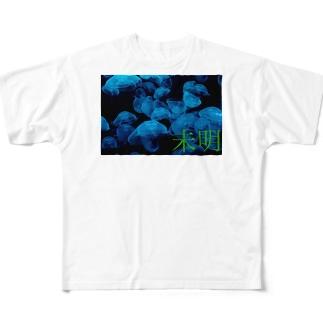 未明×海月 Full graphic T-shirts