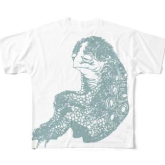 hokusai-kappa Full graphic T-shirts