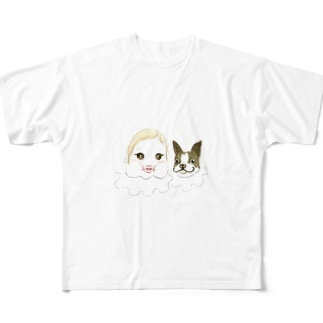 まぶだち Full graphic T-shirts