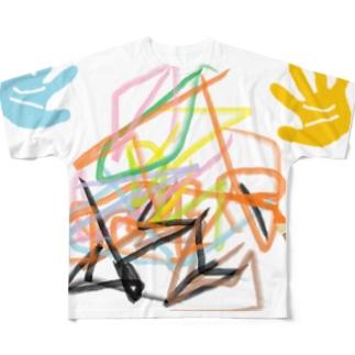 落書き Full graphic T-shirts