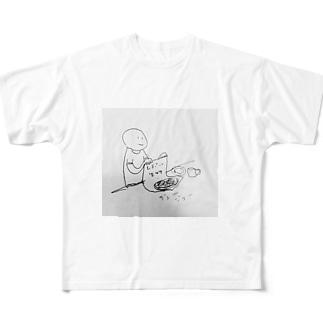 レポート生物 ジュージュー Full graphic T-shirts