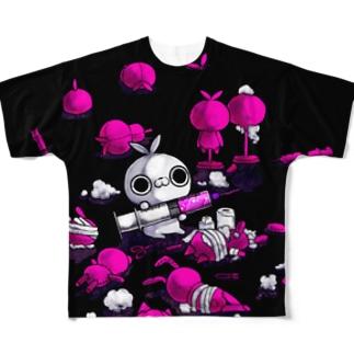 クレイジー闇うさぎ(キセカエピンク) Full graphic T-shirts