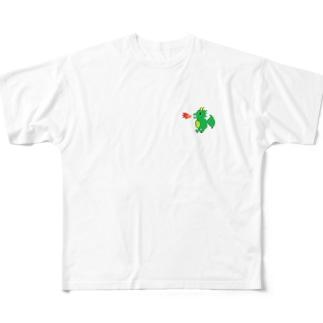 ドットドラゴンTシャツ Full graphic T-shirts