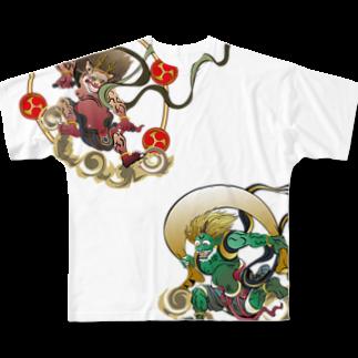 Drecome_DesignのFujin Raijin Full graphic T-shirts