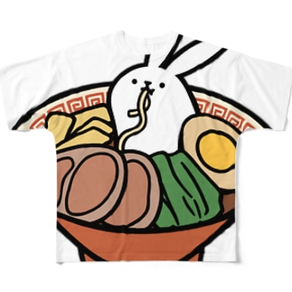 ラーメン Full graphic T-shirts