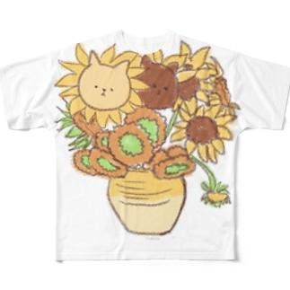 ひまにゃり Full graphic T-shirts