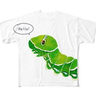 ナミアゲハの幼虫 Full graphic T-shirts