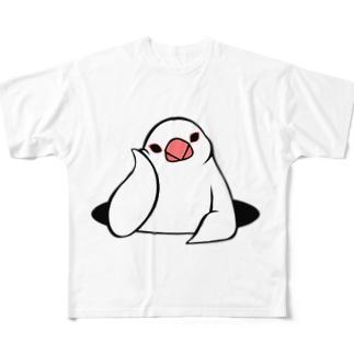 アンニュイ文鳥 Full graphic T-shirts