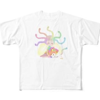 癒し系メドゥーサ&キマイラ Full graphic T-shirts