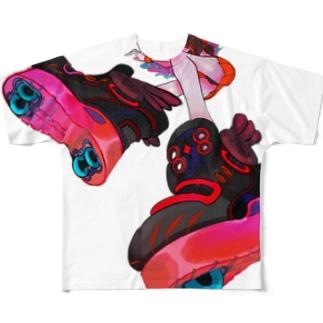 LaLa_rr SHOEZ XL Full graphic T-shirts