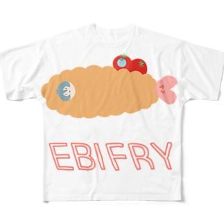 エビフライなじんたん Full graphic T-shirts