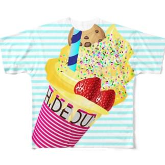 映えT-ice cream Full graphic T-shirts