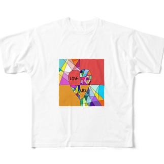 幾多もの境界線の狭間で、 揺れ動くココロ Full graphic T-shirts