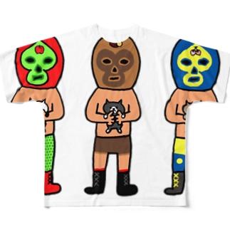 チマホマレスラー Full graphic T-shirts