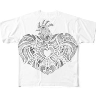 帰ってきたチキンハート Full graphic T-shirts