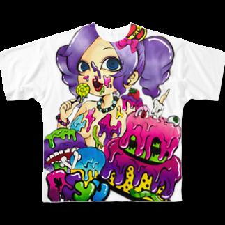 味噌田楽のあしゅー Full graphic T-shirts