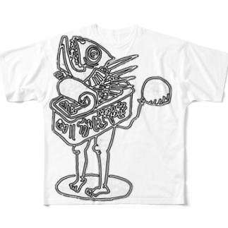 Exact Miscellaneousの蒲焼きboyロゴなし Full graphic T-shirts