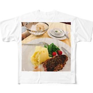 美味しいステーキ Full graphic T-shirts