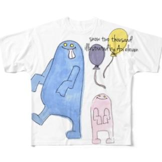 バケバケ Full graphic T-shirts
