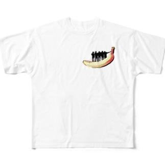 JSTバナナ Full graphic T-shirts