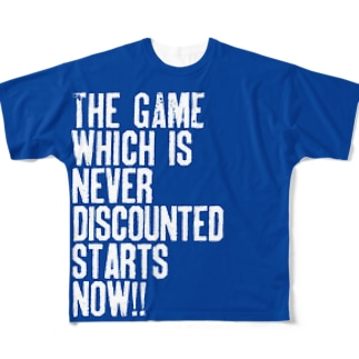 The game which is never discounted starts now. Full graphic T-shirts