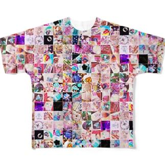 【展示のみ】リノスタグラム Full graphic T-shirts