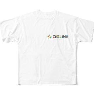 ZEBLINEデザインC Full graphic T-shirts
